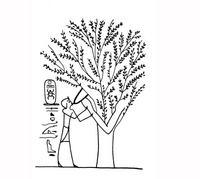 Aus: U. Winter, Frau und Göttin. Exegetische und ikonographische Studien zum weiblichen Gottesbild im Alten Israel und in dessen Umwelt (OBO 53), Freiburg (Schweiz) / Göttingen 1983, Abb. 460; © Stiftung BIBEL+ORIENT, Freiburg / Schweiz