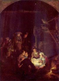 Rembrandt, Die Anbetung der Hirten, 1646, Quelle: www.meisterwerke-online.de