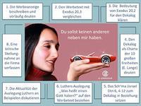 © H. Lenhard. Die Werbeanzeige aus: Obst, Gabriele/Lenhard, Hartmut, Kompetenzorientiertes Lehren und Lernen im Religionsunterricht, Göttingen 4. Auflage 2015, 257