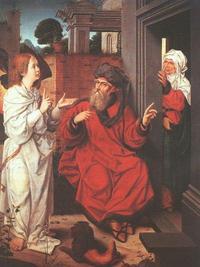 Abb. 3 Ein Engel verheißt Abraham und Sara einen Sohn (Jan Provost; um 1465-1529).
