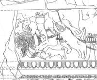 Aus: H. Seyrig, Bas-reliefs monumentaux du temple de Bêl a Palmyre, Syria 15 (1934), 155-186, Pl. XX