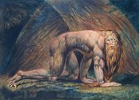 Abb. 4 In Dan 4 wird König Nebukadnezar zu einem Tier, bis er Gott anerkennt (William Blake, um 1800).