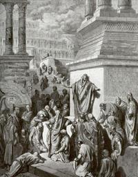Abb. 4 Jona predigt den Ninivitern (Gustave Doré; 1883).