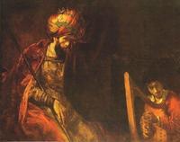 Abb. 7 David spielt Harfe vor Saul (Rembrandt van Rijn; 1660 n. Chr.).