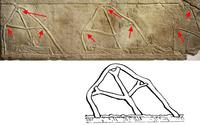 Mit Dank an © The Trustees of the British Museum; BM 124927 lizenziert unter Creative Commons-Lizenz, Attribution-Share Alike 4.0 International; Zugriff 10.2.2020; unten: © Deutsche Bibelgesellschaft, Stuttgart