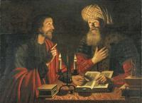 Abb. 3 Christus unterweist Nikodemus; Gemälde, Niederlande, Crijn Hendricksz Volmariijn (ca. zwischen 1628-1645), Fotografie: Christies