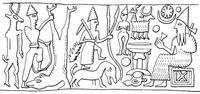 Aus: U. Winter, Frau und Göttin. Exegetische und ikonographische Studien zum weiblichen Gottesbild im Alten Israel und in dessen Umwelt (OBO 53), Freiburg (Schweiz) / Göttingen 1983, Abb. 76; © Stiftung BIBEL+ORIENT, Freiburg / Schweiz