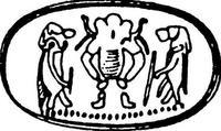 Aus: Keel, 1997, 534f., Abb. 11; © Stiftung BIBEL+ORIENT, Freiburg / Schweiz