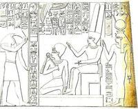 Aus: R. Lepsius, Denkmäler aus Ägypten und Athiopien, Berlin 1849-1858, Bd. VI, Taf. 124d