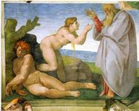 Abb. 3 Eva ist Fleisch von Adams Fleisch (Michelangelo, Sixtinische Kapelle; 1511).