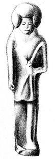 Aus: C. Leemans, Monuments égyptiens du Musée d'Antiquités des Pays-Bas à Leide. D. Statues, figurines et statuettes représentant des hommes et des femmes, Leiden 1846-1847, Taf. 19
