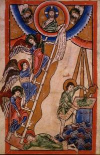 Abb. 1 Jakobs Traum (Mosaner Psalterfragment; 12. Jh.).