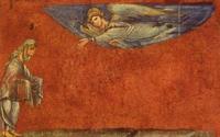 Abb. 1 Abraham als der Empfangende (Wiener Genesis; 6. Jh.).