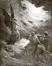 Abb. 2 Bileam und die Eselin (Gustav Doré; 1865).