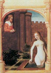Abb. 11 David und Batseba (Bible moralisée; 13. Jh.).