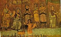 Abb. 8 Mose wird gerettet (Synagoge von Dura Europos; 3. Jh.).