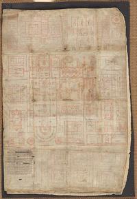 Abb. 1 St. Galler Klosterplan (Reichenau, frühes 9. Jahrhundert). Online unter: https://de.wikipedia.org/wiki/St._Galler_Klosterplan#/media/Datei:Codex_Sangallensis_1092_recto.jpg, abgerufen am 8.10.2020.