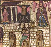 Abb. 1 Aaron als Priester (Malerei in der Synagoge von Dura Europos; 3. Jh.).