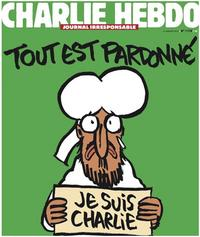 in: Charlie Hebdo vom 14.01.2015, HO/AFP/Getty Images, http://www.nydailynews.com/news/world/charlie-hebdo-cover-shows-muhammad-holding-je-suis-charlie-article-1.2075278jpg; abgerufen am 04.10.16