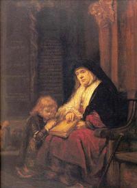 Abb. 2 Hanna bringt Samuel zum Tempel (Rembrandt; 1650).
