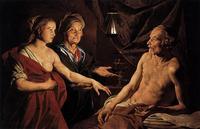 Abb. 4 Sara führt Hagar zu Abraham, Matthias Stom (ca. 1637-1639), Berlin