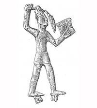 Aus: O. Keel / Chr. Uehlinger, Götter, Göttinnen und Gottessymbole (QD 134), Freiburg 5. Aufl. 2001, Abb. 57; © Stiftung BIBEL+ORIENT, Freiburg / Schweiz
