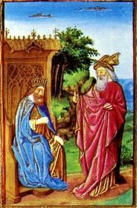 "Abb. 3 Nathan und David (Jean Colombe, Illustration zu Ps 32, aus dem Stundenbuch des Duc de Berry ""Très Riches Heures""; 1485-1489)."