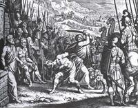 Abb. 1 Samuel tötet Agag (Matthäus Merian d.Ä., 1625-30).