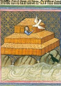 Abb. 3 Noah schickt die Taube aus (Wenzelsbibel; 14. Jh.).