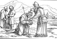 Abb. 1 Samuel salbt Saul in Rama (1Sam 10; Holbein, 16. Jh.).