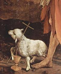 Quelle: http://www.zeno.org/Kunstwerke/B/Gr%C3%BCnewald,+Mathis+Gothart%3A+Isenheimer+Altar%3A+Kreuzigung,+Detail+%5B5%5D, gemeinfrei