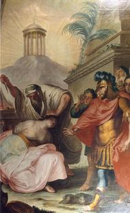 Abb. 3 Jeftah tötet seine Tochter (Bild des Eichstätter Malers Johann Michael Baader; 18. Jh.).