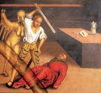 Abb. 7 Das 5. Gebot (Gemälde von Lucas Cranach; Detail von Abb. 2).
