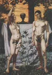 Abb. 2 Adam und Eva erkennen ihre Nacktheit (Hans Thoma, 1897).