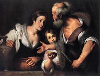 Abb. 2 Elia und die Witwe aus Zarpat (Bernardo Strozzi; 1640).