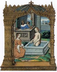 Abb. 2 David und Batseba (Barberini-Stundenbuch für Rouen; 16. Jh.).