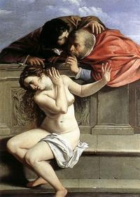 Abb. 2 Die Richter bedrängen Susanna (Artemisia Gentileschi; 1610).