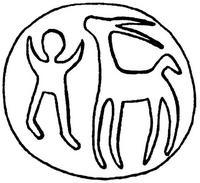 Aus: O. Keel / Chr. Uehlinger, Götter, Göttinnen und Gottessymbole (QD 134), Freiburg, 5. Aufl. 2001, Abb. 178b; © Stiftung BIBEL+ORIENT, Freiburg / Schweiz