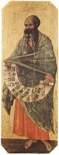 Abb. 1 Der Prophet Maleachi (Duccio di Buoninsegna; 1308-1311).
