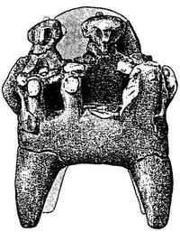 Aus: O. Keel / Chr. Uehlinger, Götter, Göttinnen und Gottessymbole (QD 134), Freiburg 5. Aufl. 2001, Abb. 395; © Stiftung BIBEL+ORIENT, Freiburg / Schweiz.
