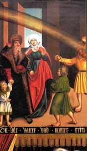 Abb. 6 Das 4. Gebot (Gemälde von Lucas Cranach; Detail von Abb. 2).