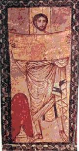 Abb. 1 Esra; Fresko in der Synagoge von Dura Europos (3.Jh.)