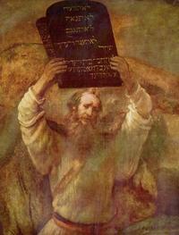 Abb. 2 Mose zerstört die Tafeln des Gesetzes (Rembrandt; 1659).