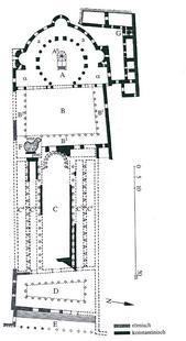 Anastasis – Grundriss der konstantinischen Anlage, Scan: Hirschberg (2014)