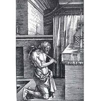 Abb. 6 David tut Buße nach seiner Verfehlung mit Batseba (2Sam 11 und Ps 51) – Psalmen bekennen Schuld und sprechen Vergebung zu (Dürer; 1510).