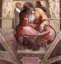 Abb. 1 Jeremia als klagender Prophet (Michelangelo; Sixtinische Kapelle; um 1510).