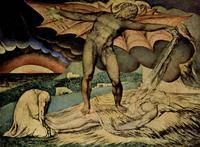Abb. 2 Der Satan schlägt Hiob (William Blake; 1827).