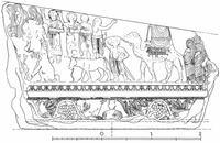 Aus: Henry Seyrig, Bas-reliefs monumentaux du temple de Bel à Palmyre, Syria 15 (1934), Pl. XIX