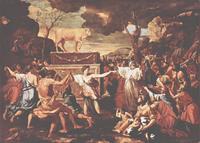 Abb. 1 Die Anbetung des Goldenen Kalbs (Nicolas Poussin; 1633-1637).