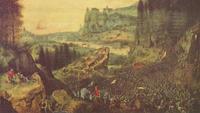 Abb. 4 Sauls Tod in den Gilboabergen (Pieter Brueghel der Ältere; ca. 1525-1569).